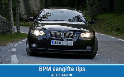 BPM rekening tips: aangifte doen als een pro